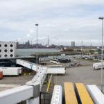 Fußgängerbrücke vom Hafen zur Princess Seaways