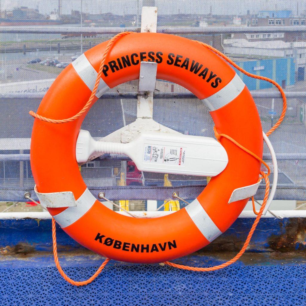 Rettungsringe dürfen nicht fehlen - Princess Seaways