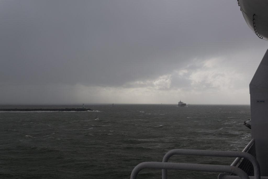 Ausblick auf die Nordsee - das Wetter wird nicht besser