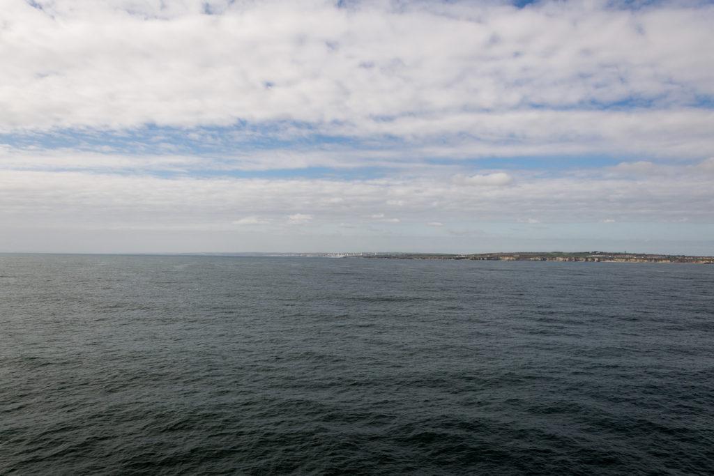 Die britische Küste ist in Sicht