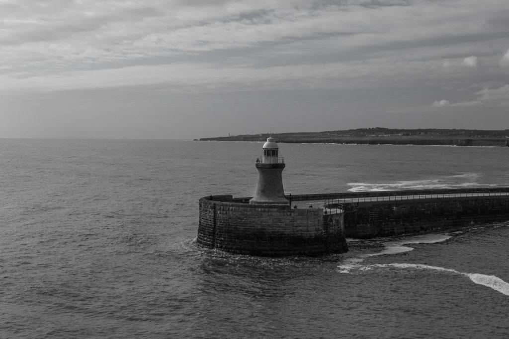 Der Leuchtturm zur Tyne dieses mal in schwarz / weiß