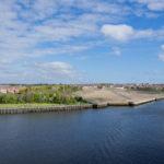 Blick auf North Shields - das gute Wetter hat in England gewartet