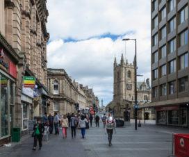 Innenstadt von Newcastle am Sonntag morgen