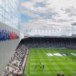 DFDS Seaways Fußballreise - Blick aus dem DFDS Block auf das Spielfeld
