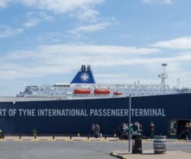 Port of Tyne International Passender Terminal mit DFDS King Seaways