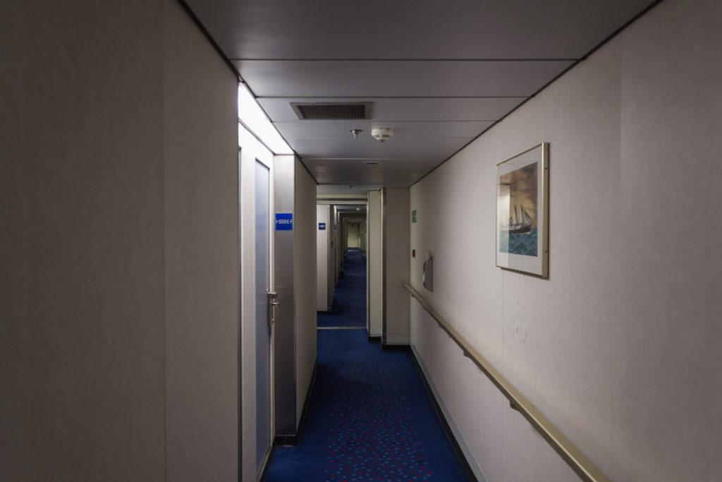 Gang zu den Kabinen auf der King Seaways der DFDS Seaways