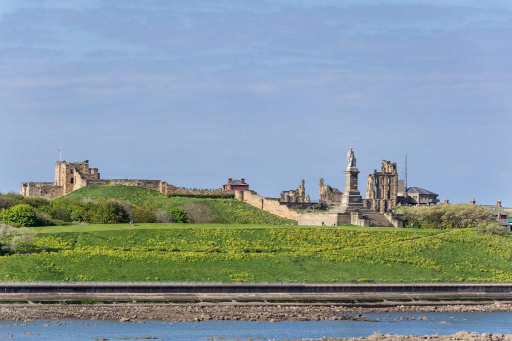 Tynemouth Castle im Sonnenschein