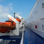 Blick über das Außendeck auf der King Seaways