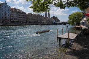 Limmat und Abfluß aus dem Zürichsee