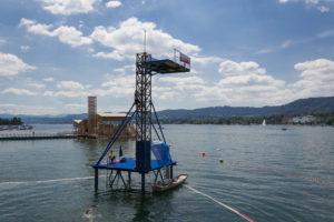 10 Meter Sprungturm im Zürichsee