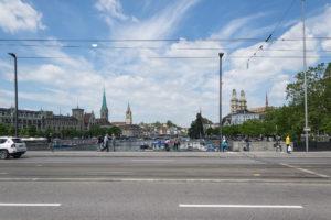 Blick in die Altstadt von Zürich