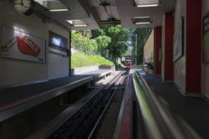 Dolderbahn naht - Zahnradbahn Zürich
