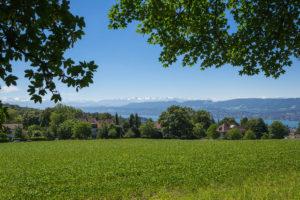 Panorama Weg über dem Zürichsee