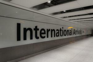 Am Flughafen London Heathrow angekommen
