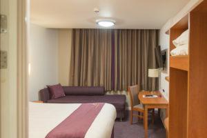 Premier Inn St. Pancras - das Zimmer