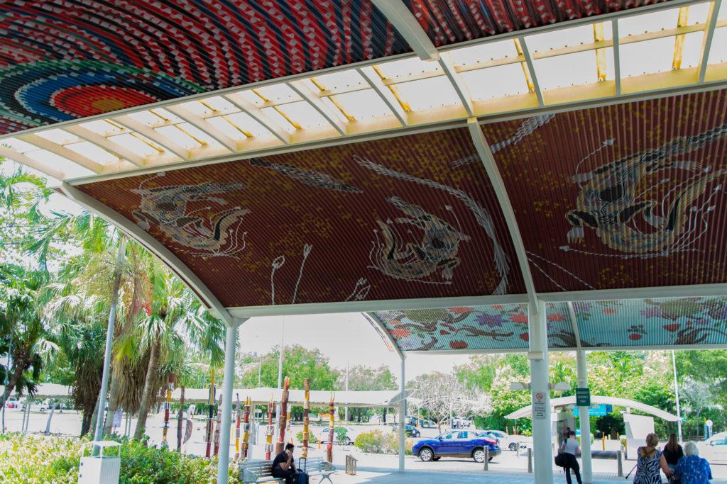 Darwin Flughafen - Aborigines Zeichnungen