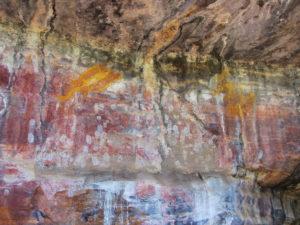 Wandzeichnungen am Ubirr Rock