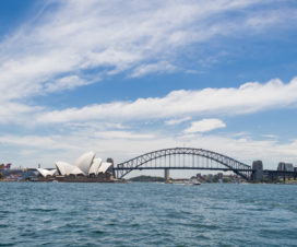 Harbour Bridge und Sydney Oper Haus