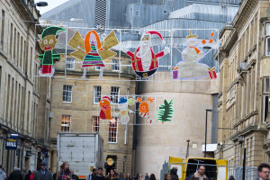Weihnachtsschmuck in Newcastle