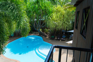 Pool im Palm City Resort Darwin