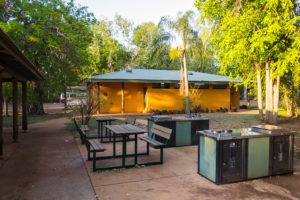 Grillplatz und Sanitäranlagen Cooinda Campsite