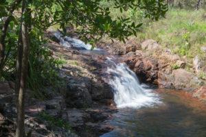 Wasserfall mit warmen Wasser