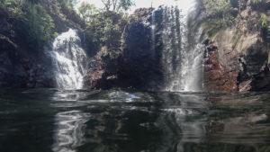 Florence Falls, im Wasser aufgenommen