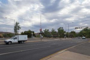 Bahnübergang in Alice Springs - Australien