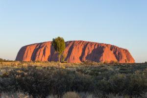Sonnenuntergang am Uluru