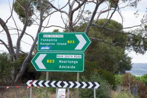 Straßenschilder in Süd Australien