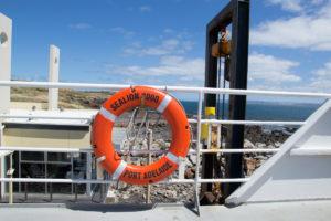 Rettungsring der Seelion 2000 von Sealink
