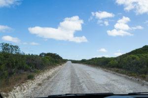 Schotterstraße auf Kangaroo Island