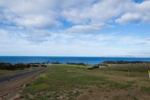 Blick auf das Australische Festland - am Horizont zu erahnen
