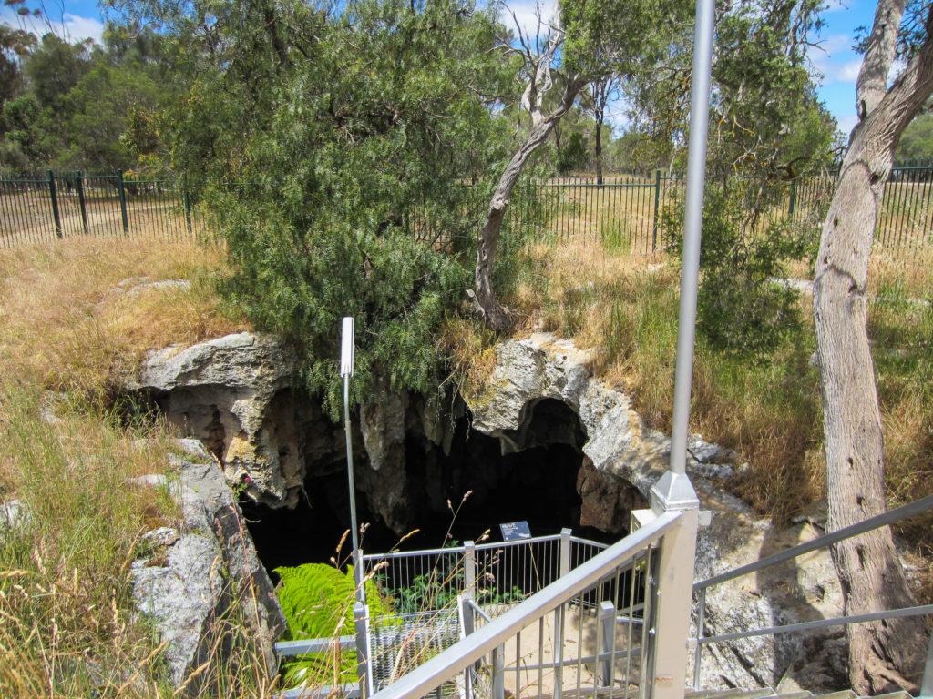 Höhleneingang im Nacracoorte Caves National Park