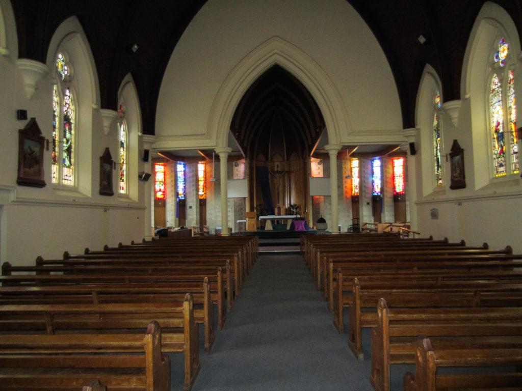 Innere Kirche in Australien Mount Gambier