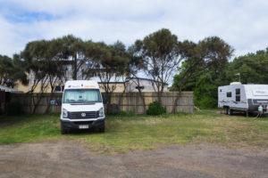 Unser Camper auf dem Port Campbell Holiday Park