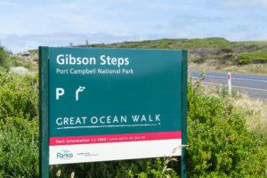 Schild: Gibson Steps