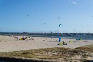 Einiges los trotz kälte bei Port Philip Bay