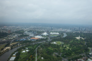 Aussicht vom Eureka Skydeck - Melbourne Cricket Ground