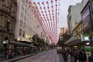 Weihnachten in Australien - Melbournes Fußgängerzone