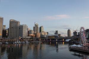 Es wird dunkel - Sydneys Skyline