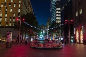 Nachts in Sydney - kurz vor Weihnachten