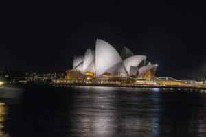Oper Sydney bei Nacht