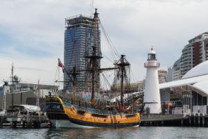Blick vom Außen zum Australian National Maritime Museum