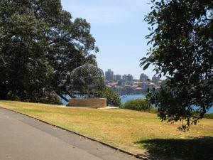 Blick durch den Botanischen Garten in Sydney