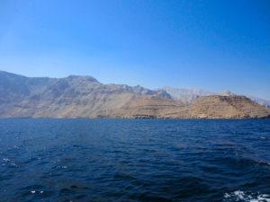 Felsen und Wasser im Fjord