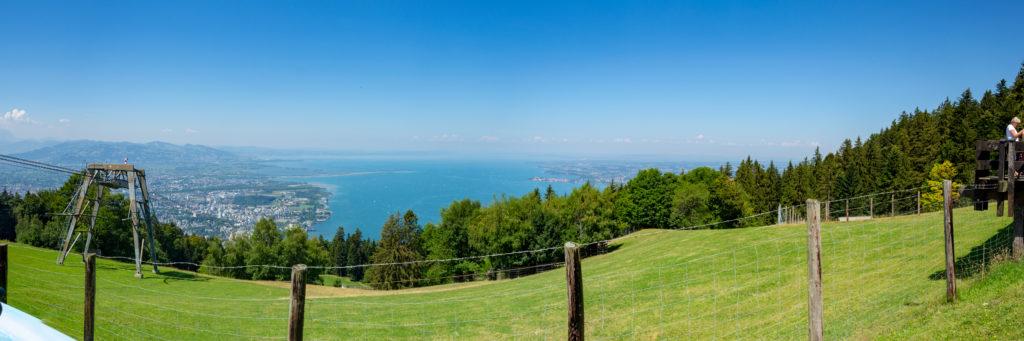 Panorama: Bregenz & Bodensee vom Pfänder aus betrachtet