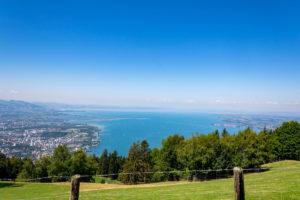 Vom Pfänder den Bodensee und Bregenz im Blick