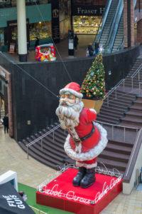 Weihnachtsmann im Cabot Circus