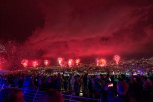 Feuerwerk in Funchal zu Silvester 2018/19
